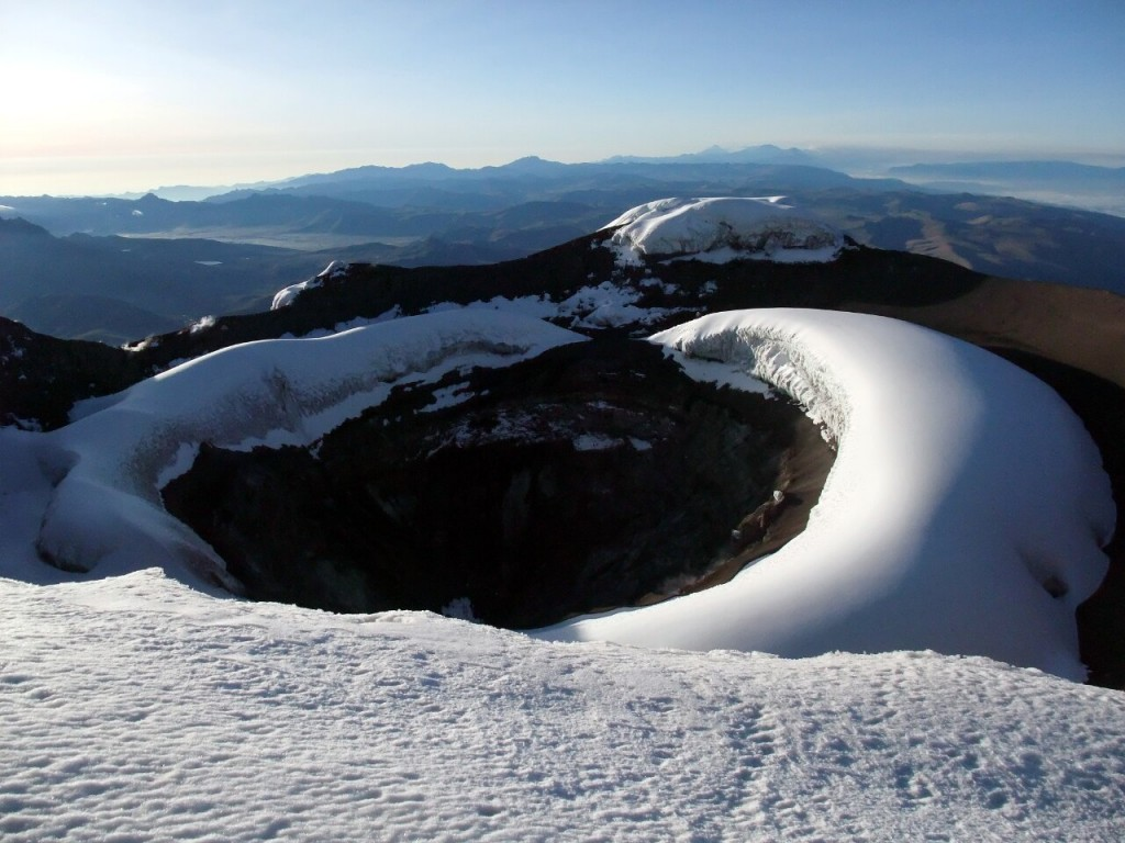 Wilhelm Reiss and Angel Escobar were the first people to look down into Cotopaxi's crater in 1872