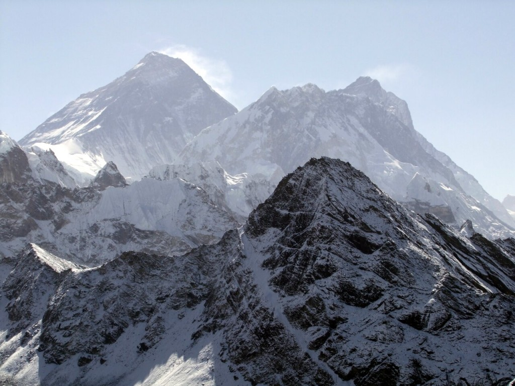 Everest (left), scene of tragedy in 1996