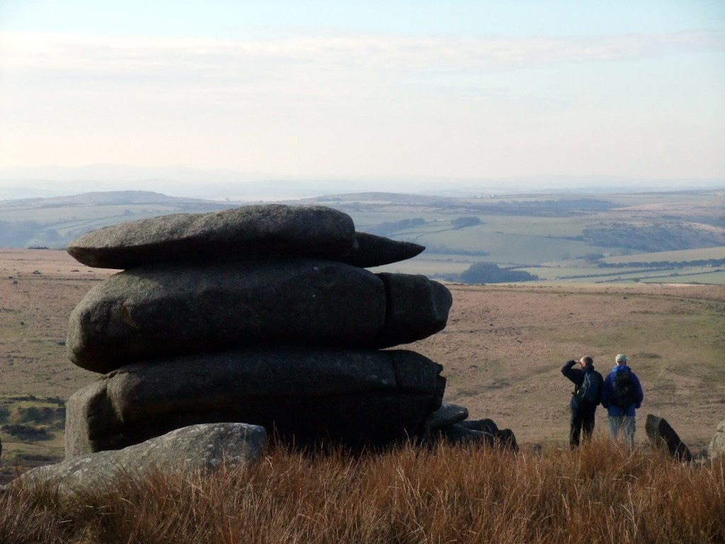 Granite tor on top of Cheesewring, Bodmin Moor, Cornwall