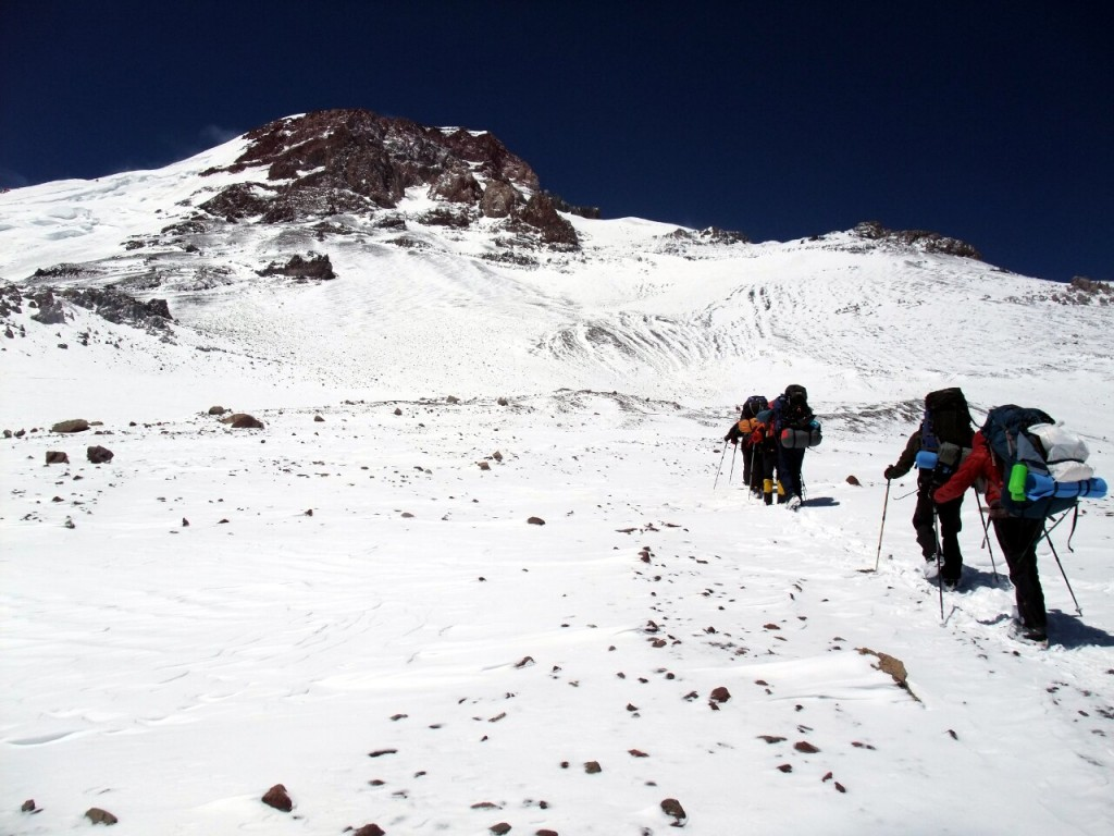 On Aconcagua's False Polish Glacier Route