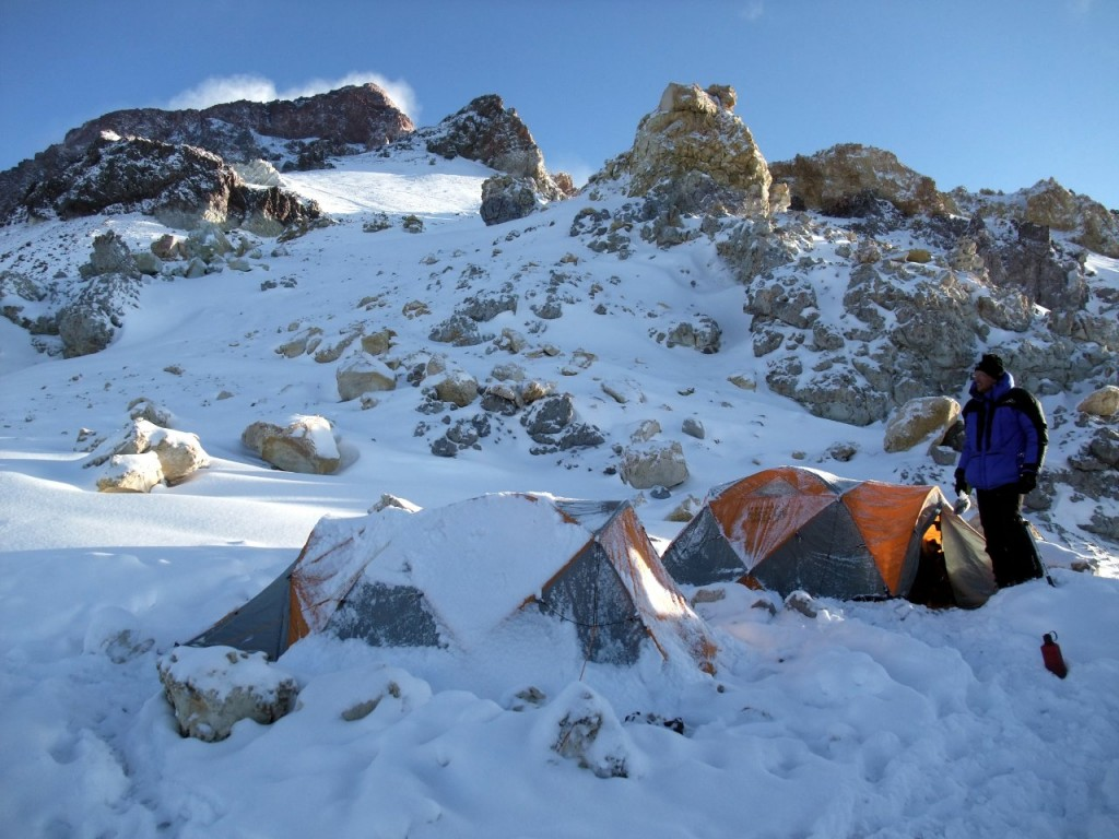 Colera Camp on Aconcagua. A contender for world's worst campsite? My arse it is.