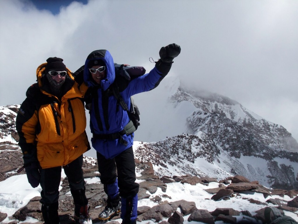 Me and Peter Roehner on the summit of Aconcagua (6959m), 31 December 2010