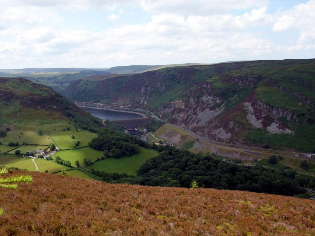 The Elan Valley and Caban-coch Dam from Carn Gafallt