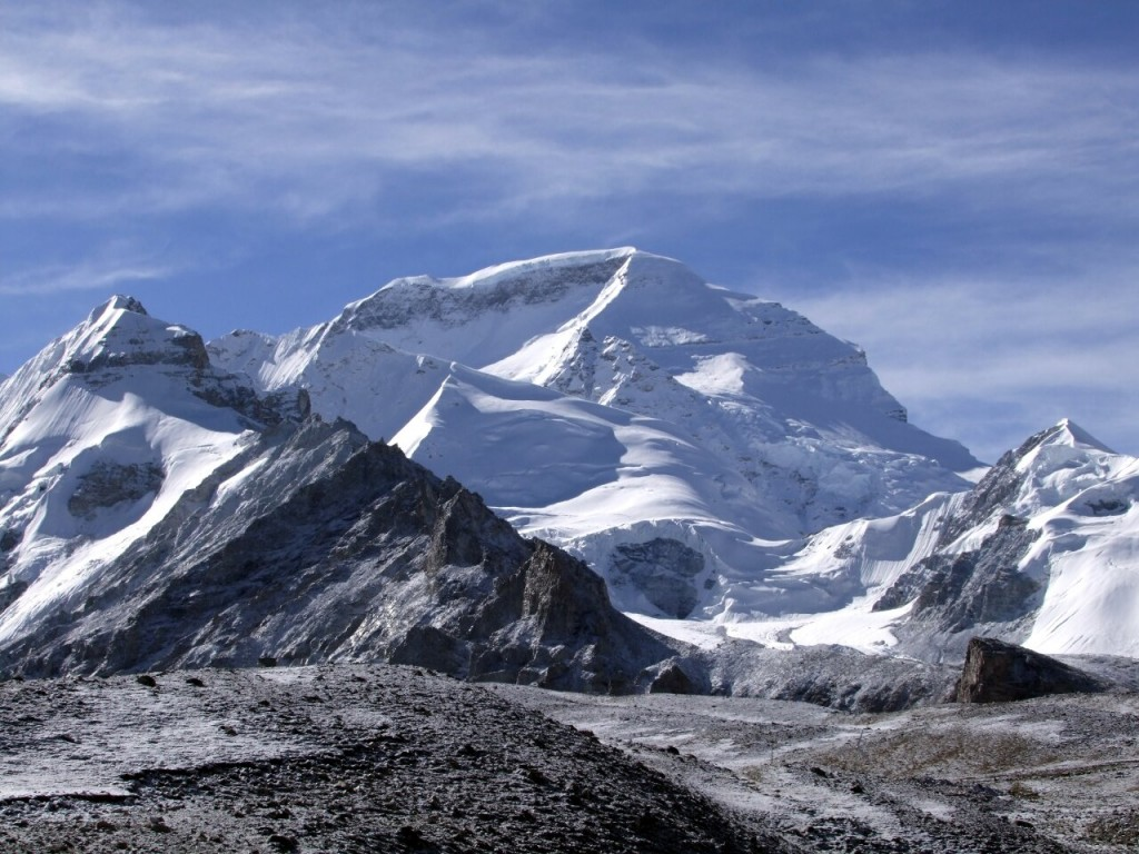 North and west faces of Cho Oyu (8201m)