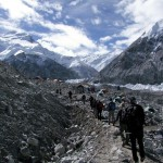 Arriving at Cho Oyu Base Camp