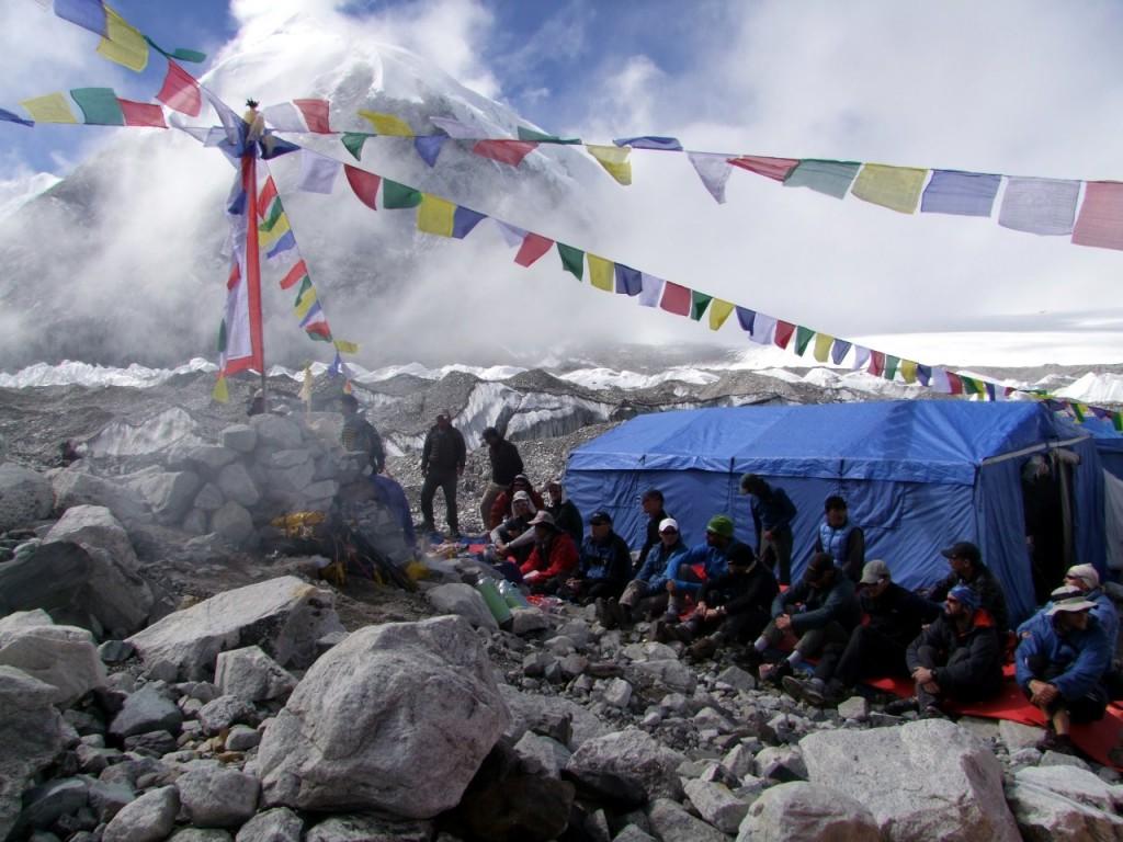 Puja at Cho Oyu Base Camp