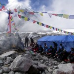Puja at Cho Oyu Base Camp