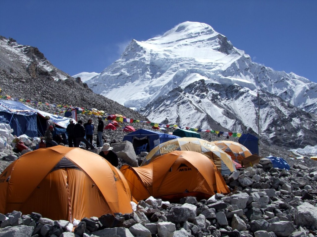 The north side of Cho Oyu in Tibet is considered a relatively safe route for commercial expeditions