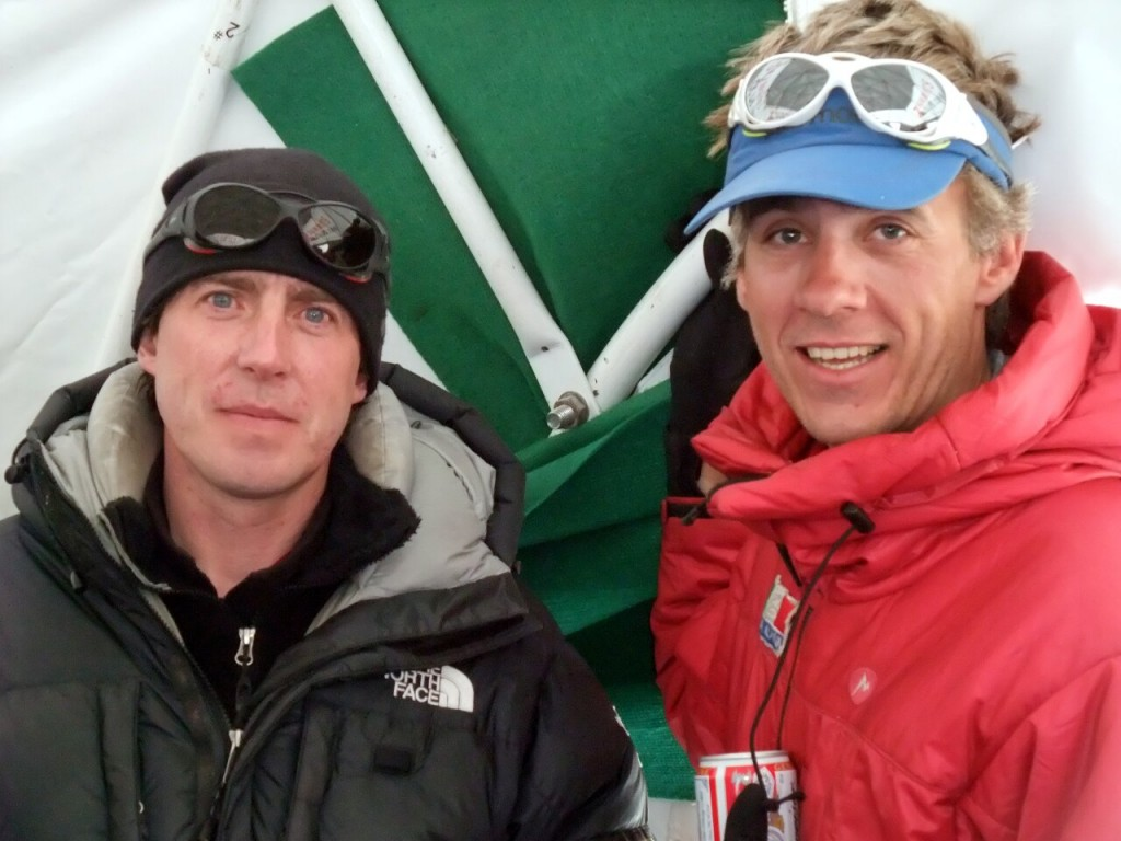 Phil Crampton (left) at Everest Base Camp this year, with a friend of his Chris Szymiec who was leading the Everest expedition for another operator, Adventure Peaks