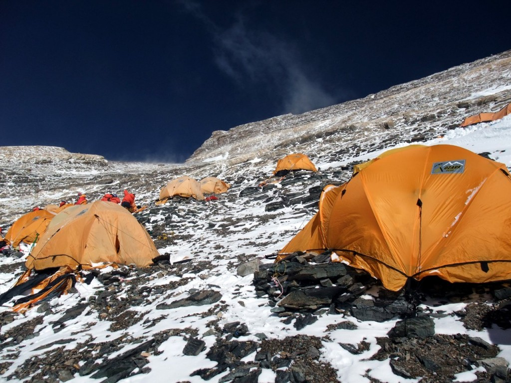 Camp 3 on Everest: there are nicer places to spend four nights