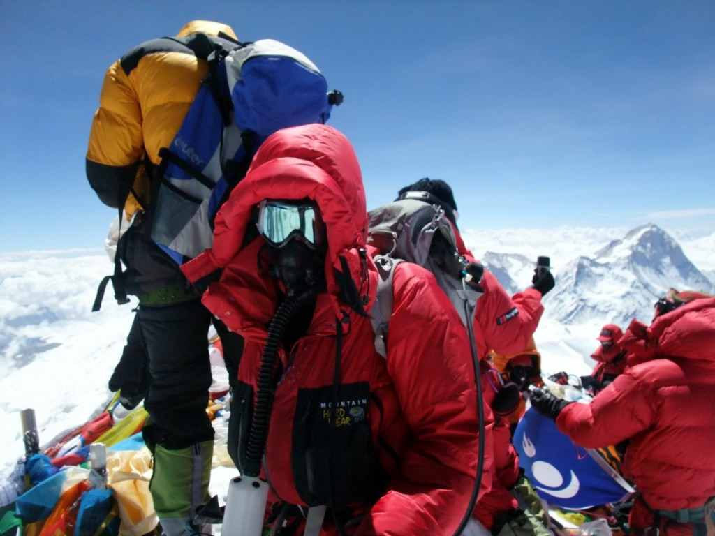 On the summit of Everest, 19 May 2012