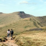 On Craig Cwmoergwm, with Pen y Fan and Cribyn ahead