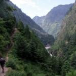 On the Manaslu Circuit up the picturesque Budhi Gandaki valley