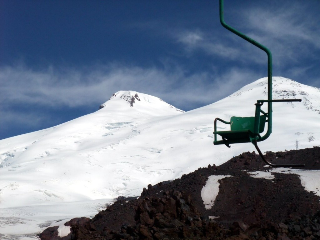 Surely getting the chairlift up Elbrus is cheating?