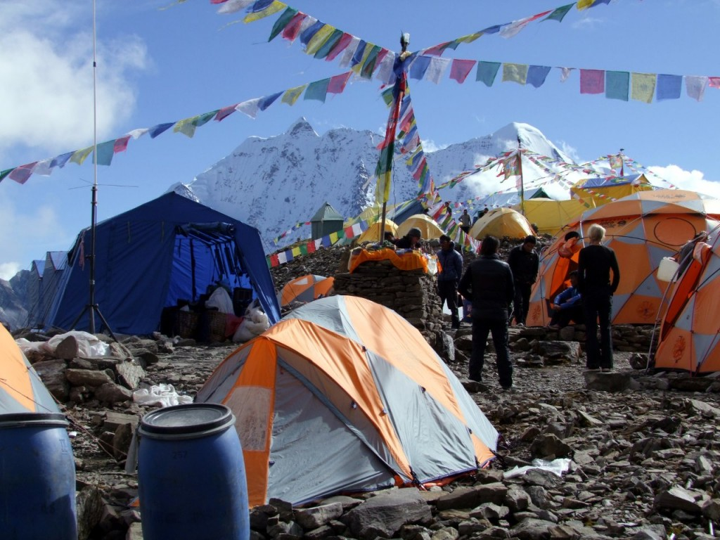 Manaslu Base Camp the day before our summit push