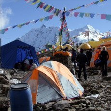 First Manaslu summit push