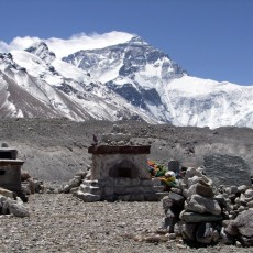 Everest Base Camp memorials