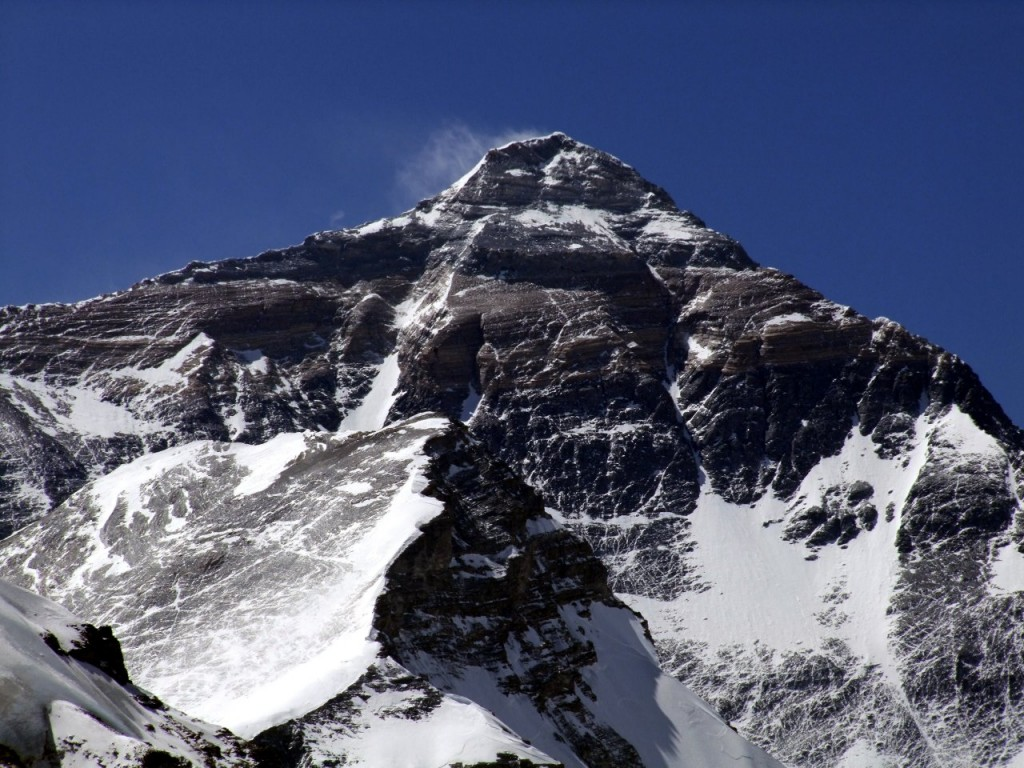 Last year there was much less snow on Everest than usual