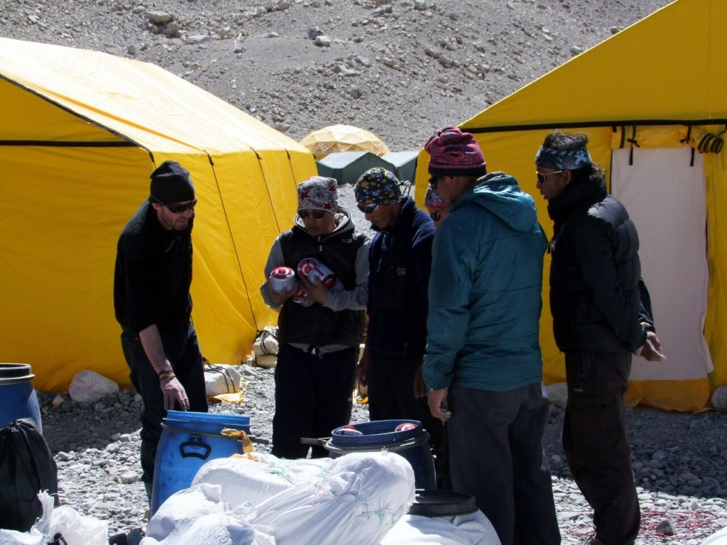 Phil has a good relationship with his Sherpas, who are among the best paid in the Himalayas