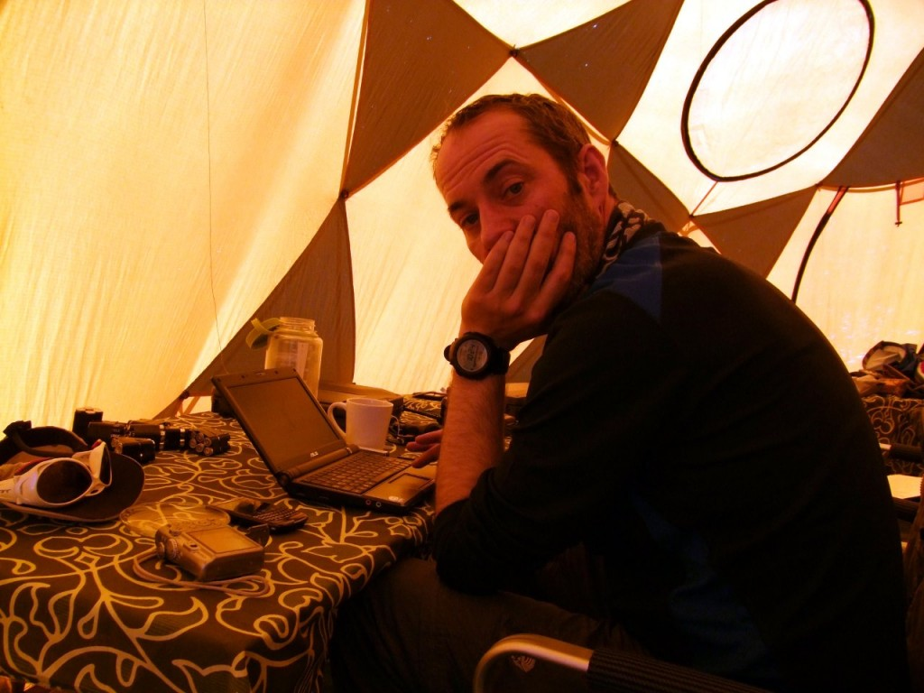 Most expedition operators on the commercial 8000m peaks will provide laptops and satellite internet connections for climbers to blog