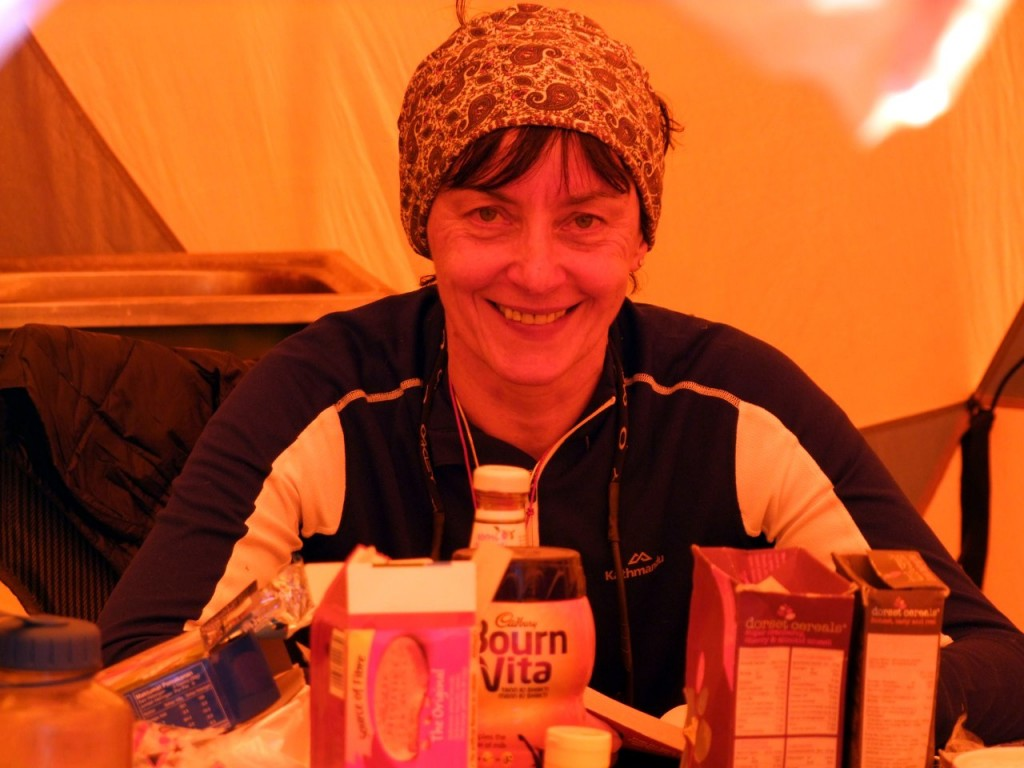 Margaret Watroba, aka Supergran, at Everest Base Camp last year
