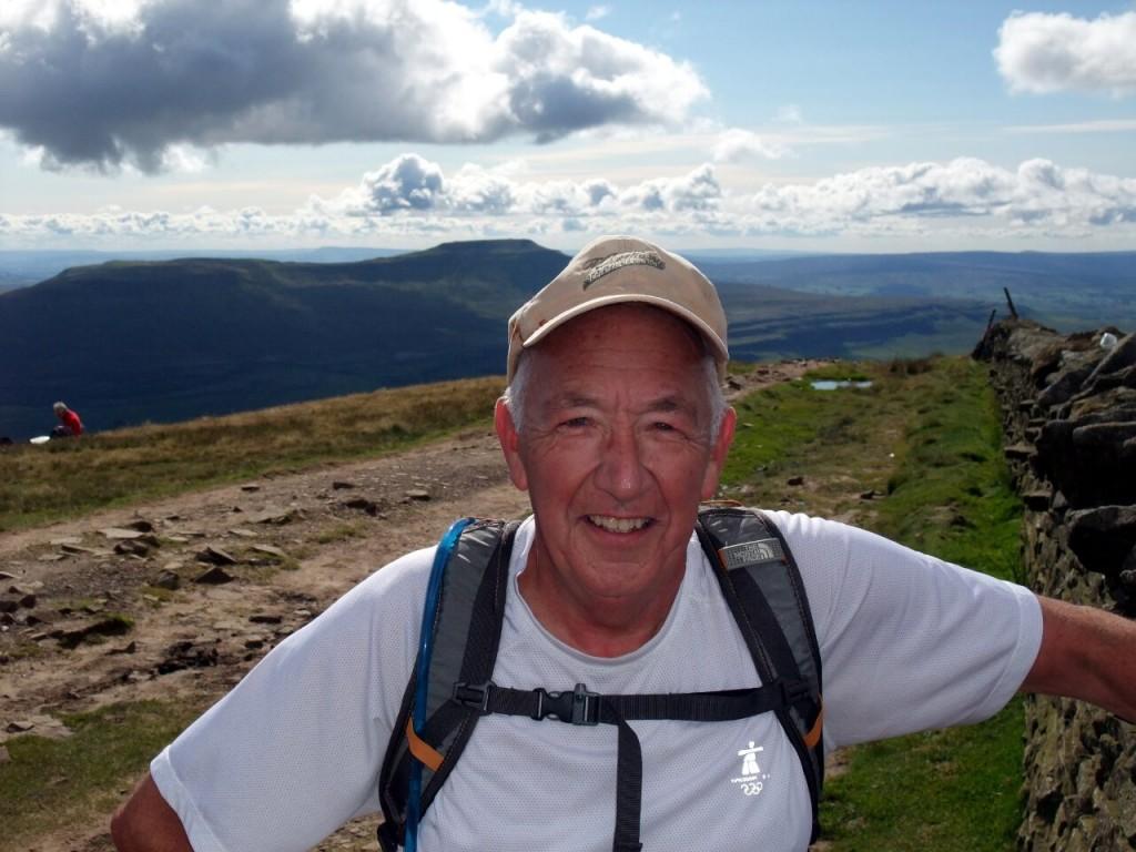 Captain Chaos, aka my old trekking buddy Ken on the summit of Whernside