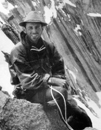 Eric Newby preparing for a rock climb (Photo: Wikimedia Commons)