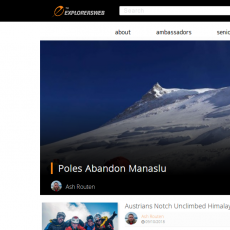 An introduction to ExplorersWeb, the adventurers' website on a new journey