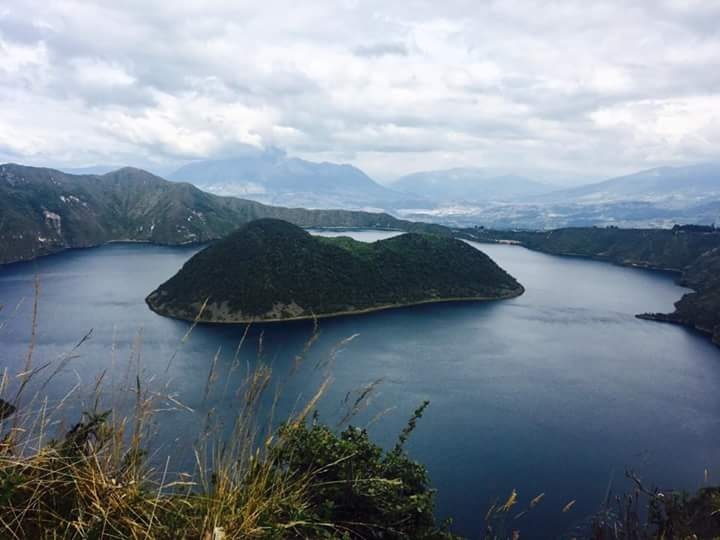 Cuicocha, or the Guinea Pig Lake. The island looks like a guinea pig if you look at it from a certain angle and concentrate hard (Photo: Edita Nichols).
