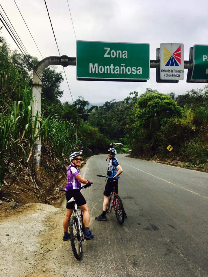 Edita and I begin our ascent through the Andes on the road to Guaranda