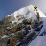 The infamous photograph by Tom Moosedale that suggests the Hillary Step may have changed shape. The Nepalese authorities are claiming the Mr Moosedale manipulated the picture using Photoshop (Photo: Moosedale Expeditions)