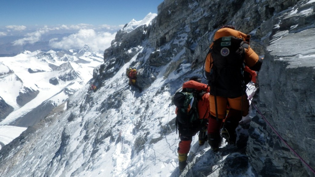 The Northeast Ridge of Everest, hardly a piece of piss (Photo: Grant 'Axe' Rawlinson)