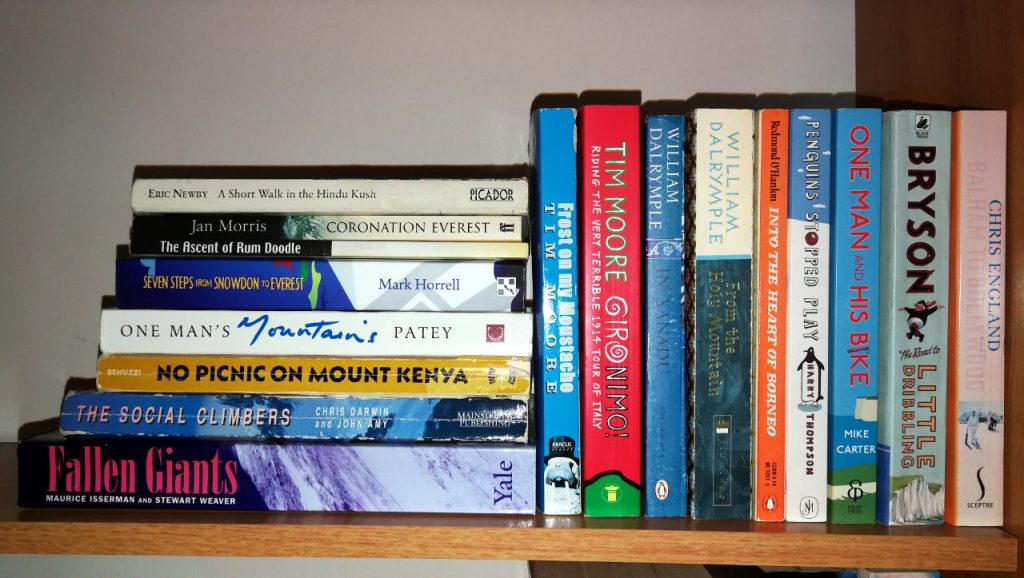 How do funny mountaineering books stack up against their counterparts in the general travel writing genre?