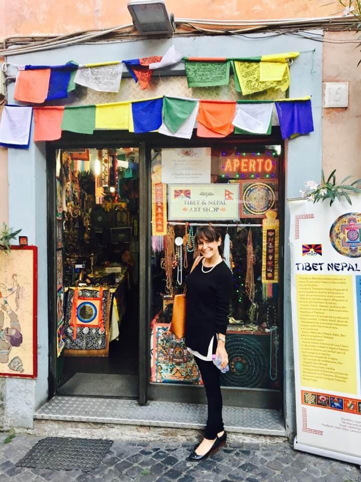 Michelle finds a little piece of Kathmandu during a visit to Rome (Photo: Edita Horrell)