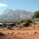Mt Mulanje, one of the highest peaks in southern Africa, rises out of the plains in southern Malawi (Photo: Lix / Wikimedia Commons)