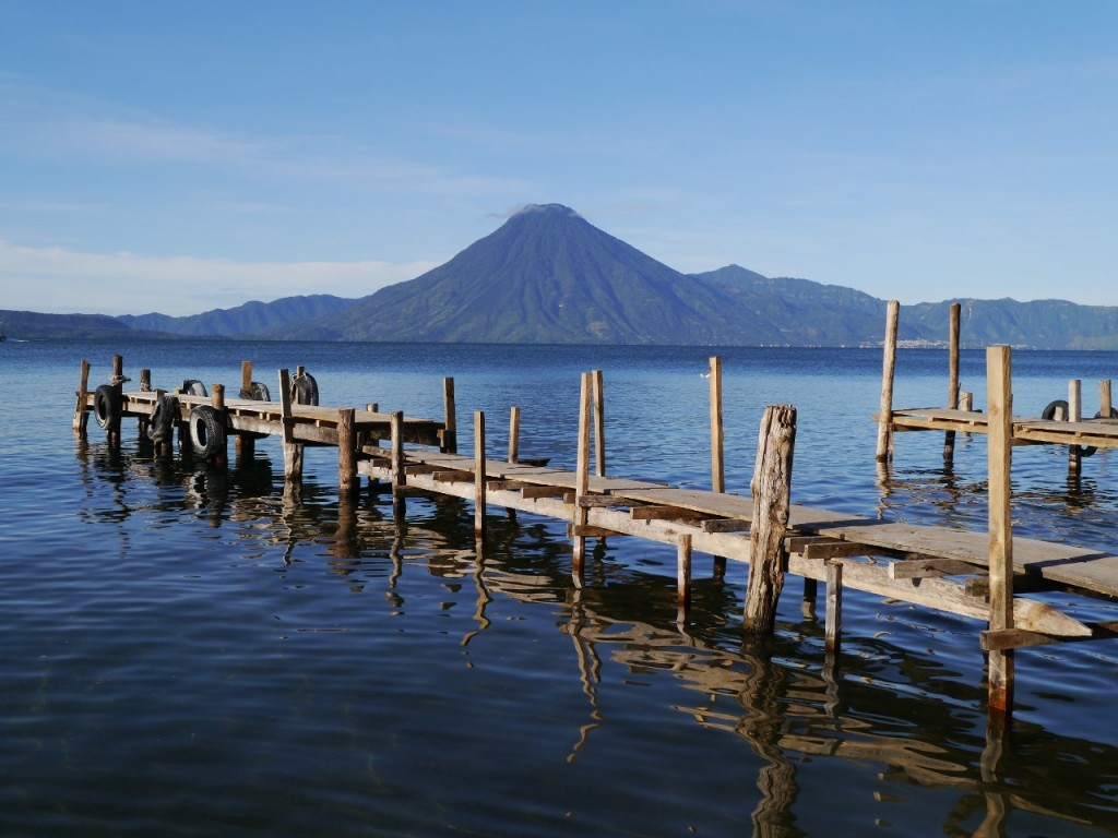 Lake Atitlan in Guatemala's Central Highlands is a peaceful spot surrounded by volcanoes (Photo: Huw Davies)