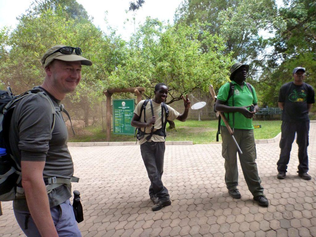 We take the precaution of having a ranger with a gun to escort us through the wildlife reserve (Photo: Edita Nichols)
