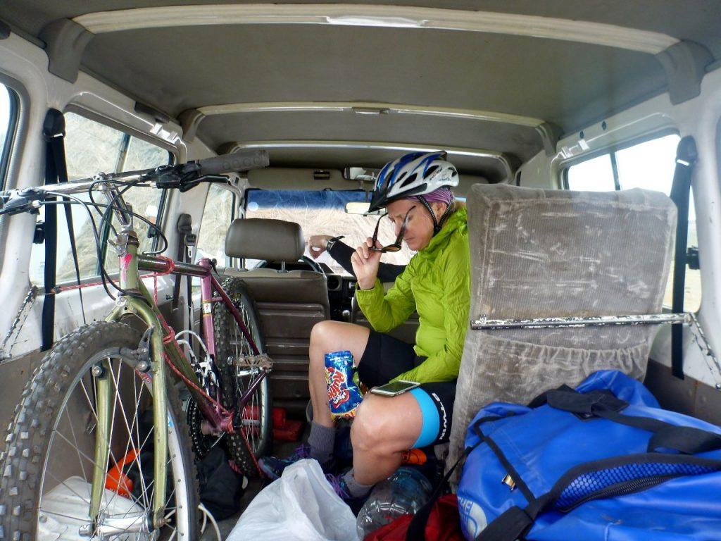 It's nice to have a support vehicle you can retreat into for a rest and some snacks (Photo: Edita Nichols)