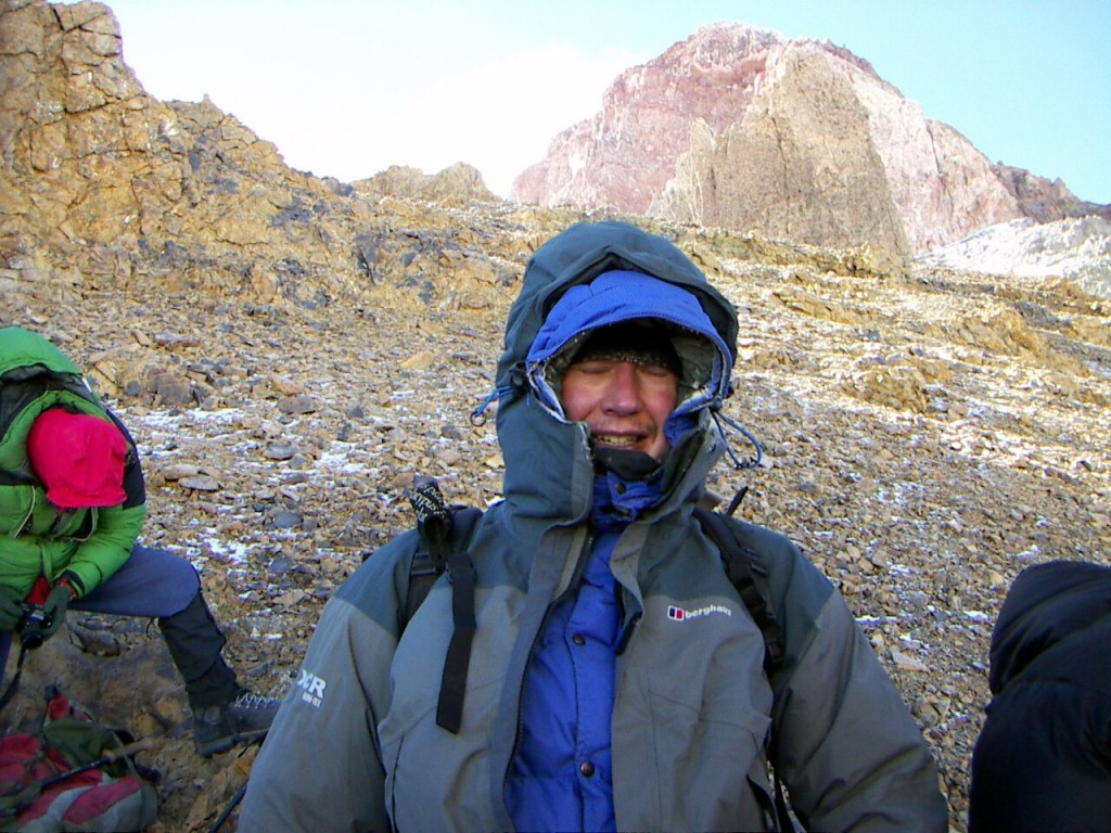 A pained expression on my face after being turned back at El Dedo, still 500m short of the summit