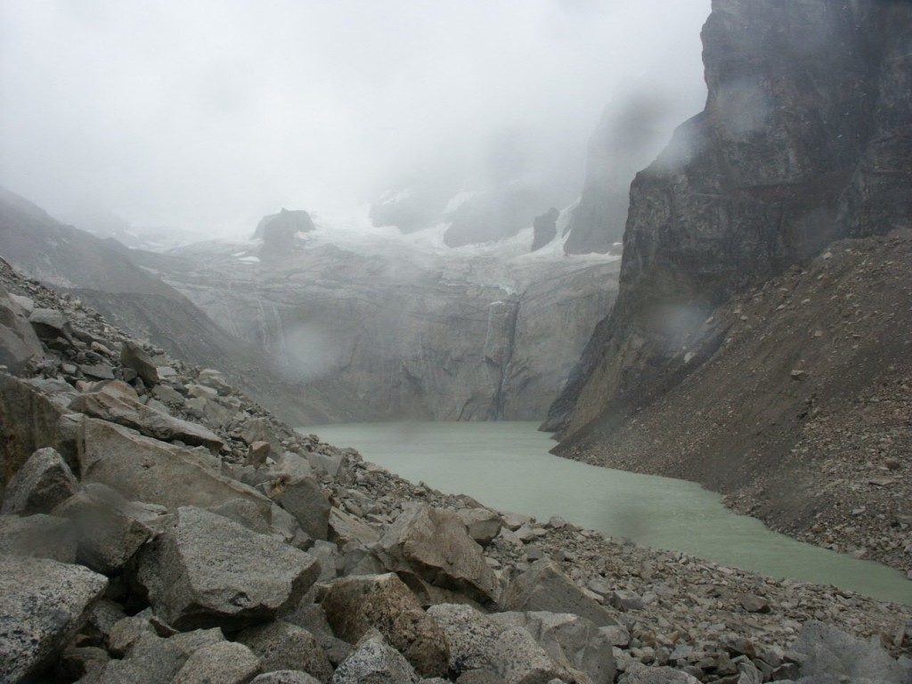 Famous view of gorgeous rock pillars from the Torres del Paine Lookout. You have to be lucky to get views like this.