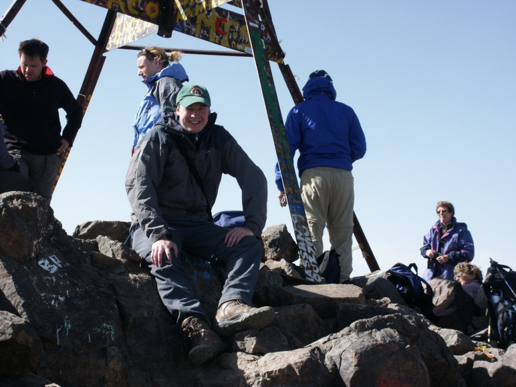 I first climbed Jebel Toubkal in July 2003. This time of year the summit will be snow-capped.