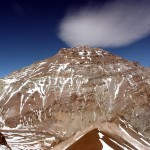 The west face of Aconcagua from the summit of Cerro Bonete