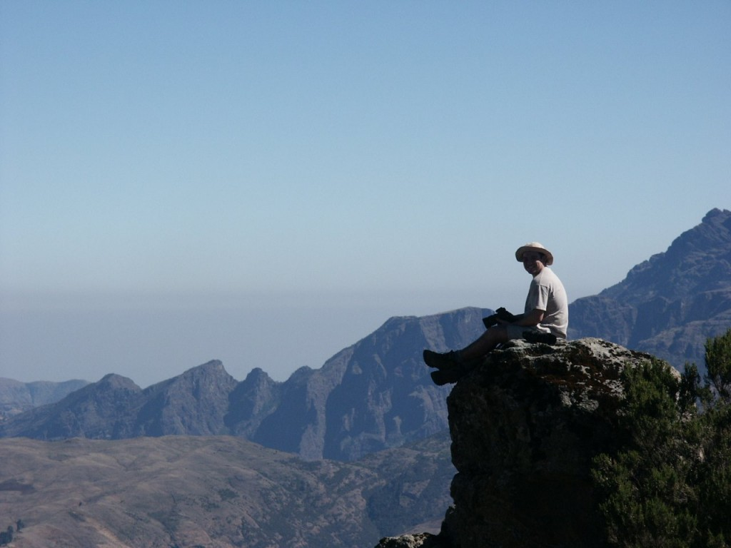 Looking out across the Ethiopian highlands from the Simien escarpment
