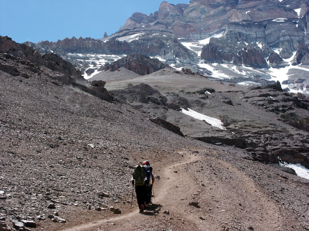 The Normal Route on Aconcagua is like tramping uphill through an industrial quantity of cat litter, according to the journalist Simon Calder