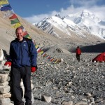 Me at the spectacular setting of Everest Base Camp on the north side in 2007