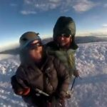 Edita and Mark celebrating on the summit