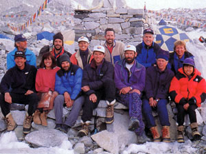 The 1996 Adventure Consultants team described by Jon Krakauer in Into Thin Air (Photo: Caroline Mackenzie)