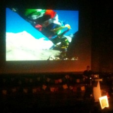 Leo Houlding does his bit for the Sherpas