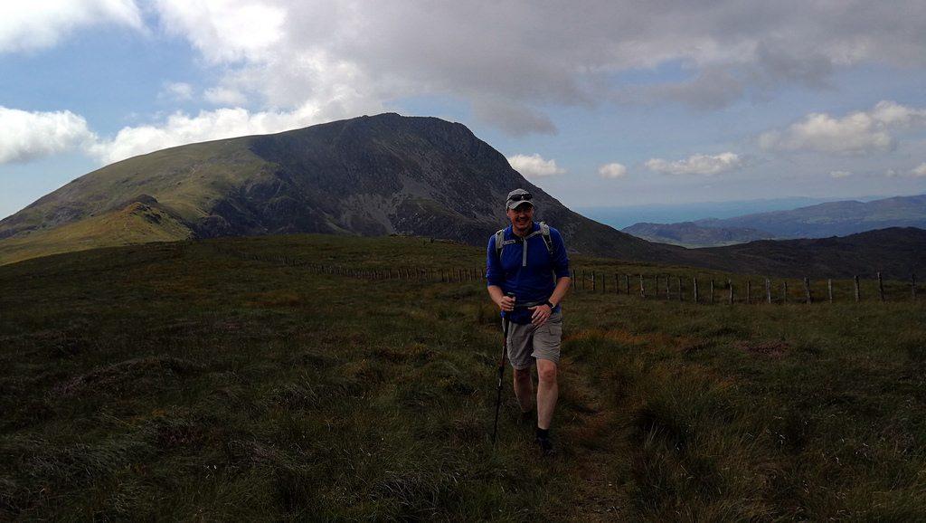 Me on the way to Gau Craig, with Mynydd Moel behind