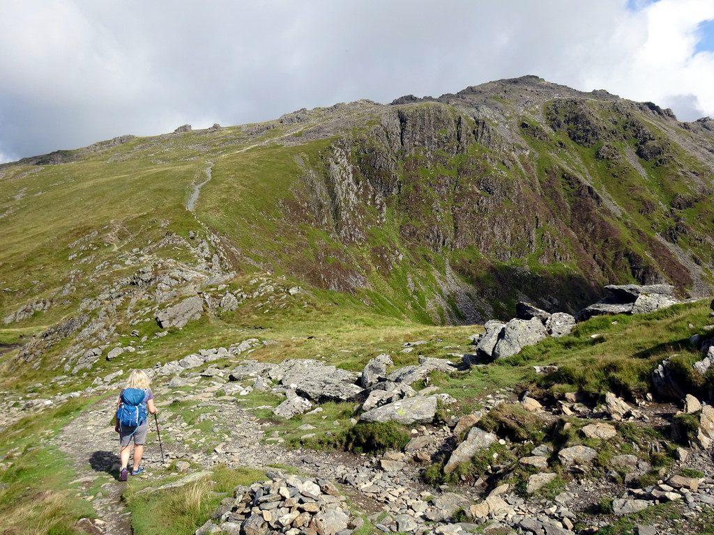 Approaching Pen y Gadair from Craig Cau